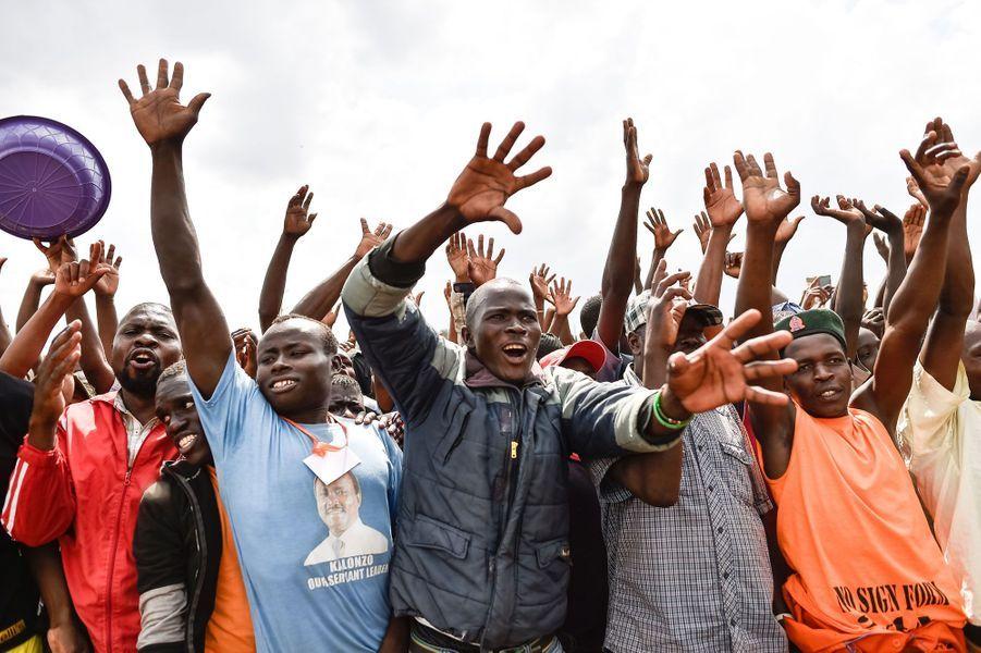 Manifestation à Nairobi, au Kenya, le 18 octobre 2017.