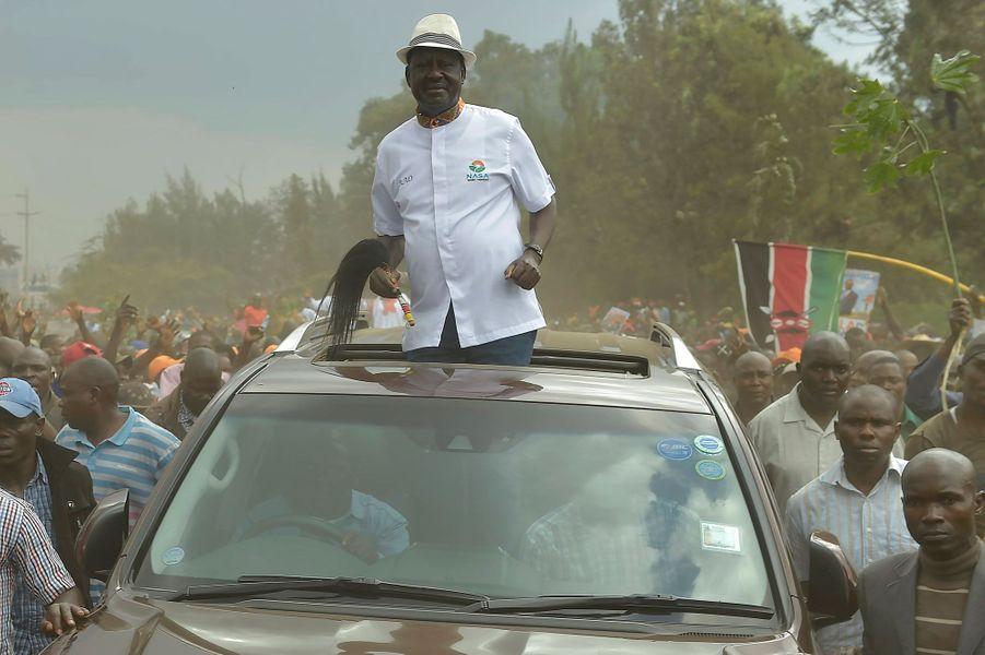 Raila Odinga à Nairobi au Kenya, le 18 octobre 2017.