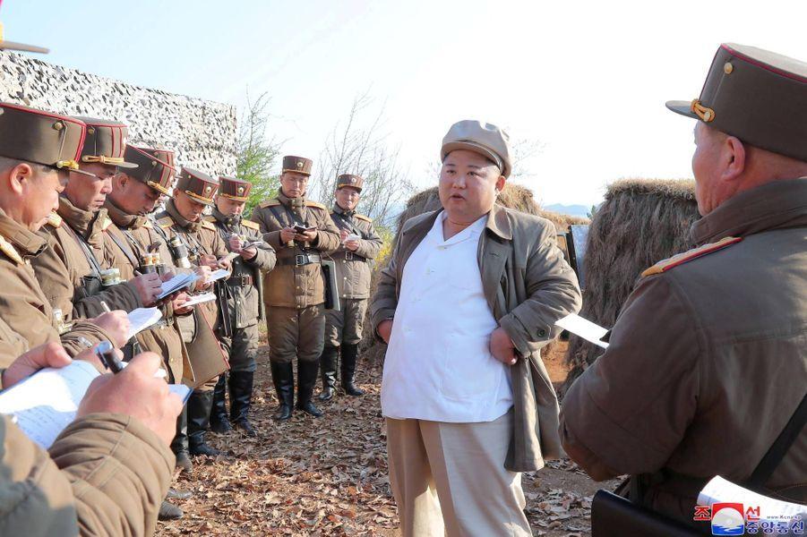 Les images publiées par l'agence officielle nord-coréenne, ce 10 avril 2020.