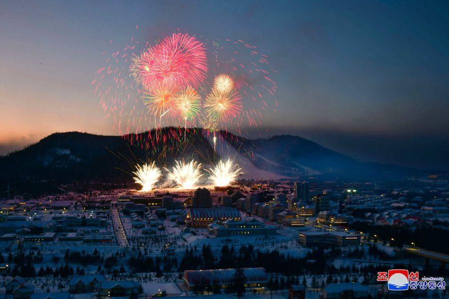 Les autorités nord-coréennes ont inauguréla ville nouvelle deSamjiyon, près dumont Paektu.