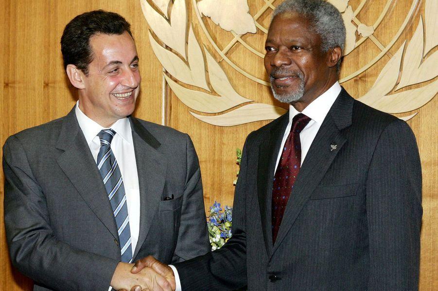 Avec Nicolas Sarkozy en 2004