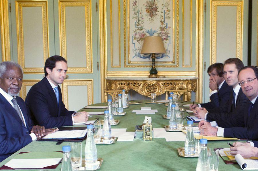 Avec François Hollande en 2013