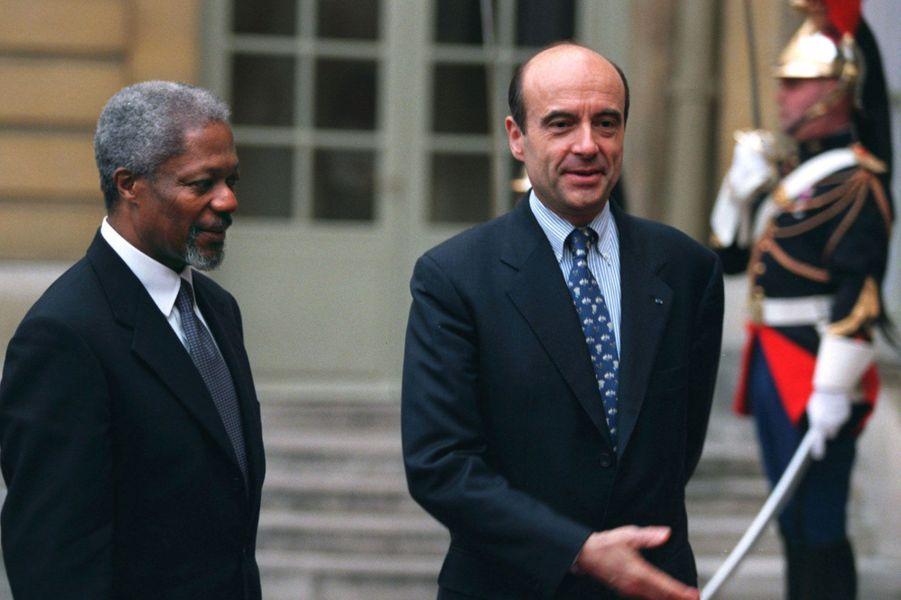 Avec Alain Juppé en 1997 à Matignon