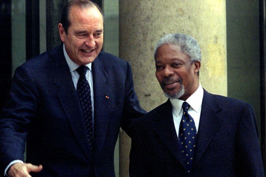 En 1997 à l'Elysée avec Jacques Chirac