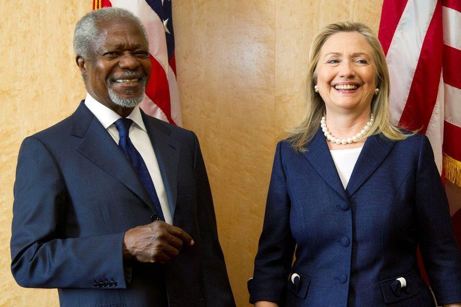 Avec Hillary Clinton à Genève en 2012