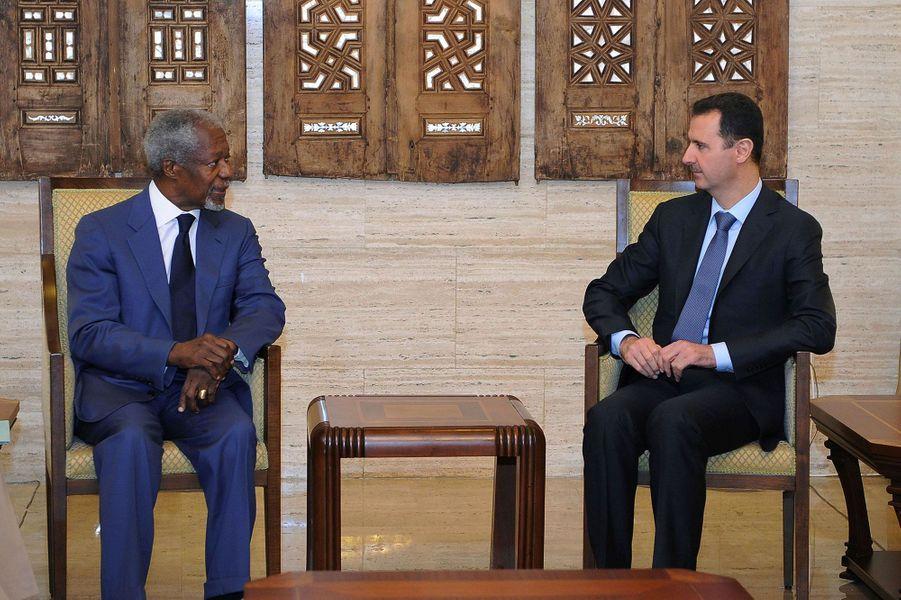 AvecBachar el-Assad en 2012 à Damas