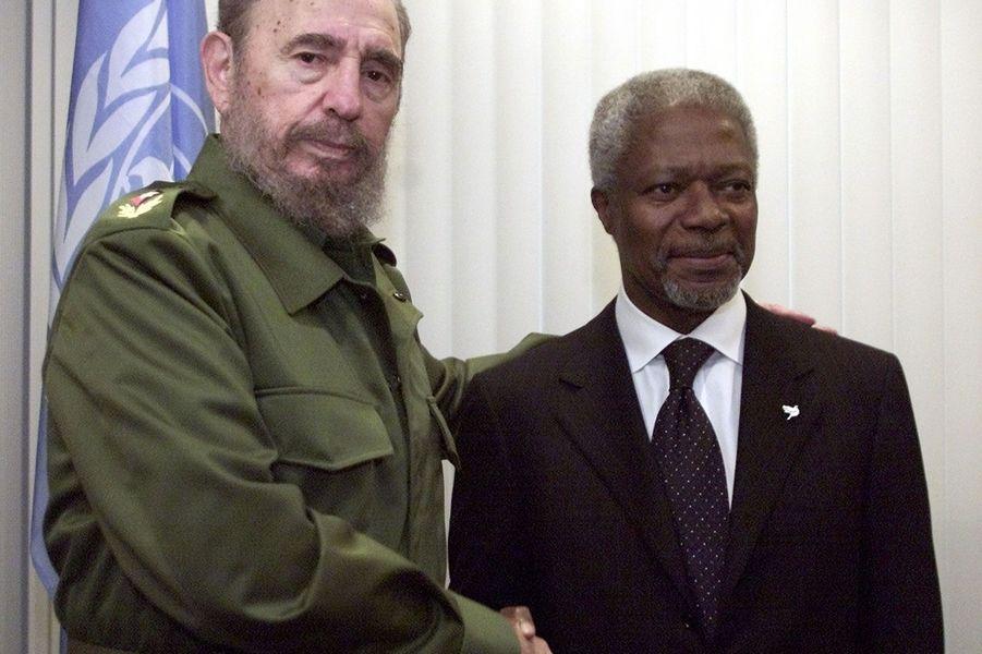 Avec Fidel Castro en 2002