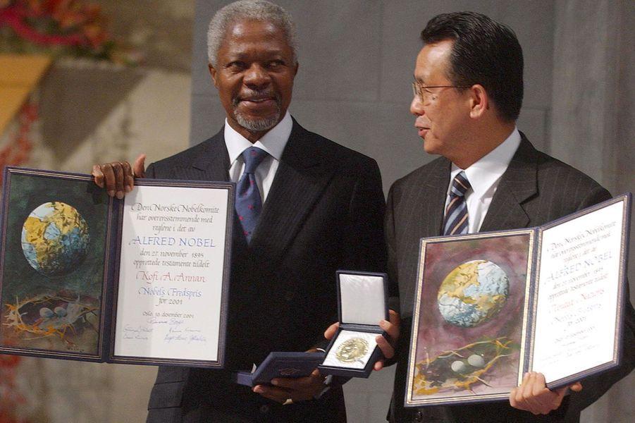 En 2001, lors de la remise de son prix Nobel de la Paix, à Oslo