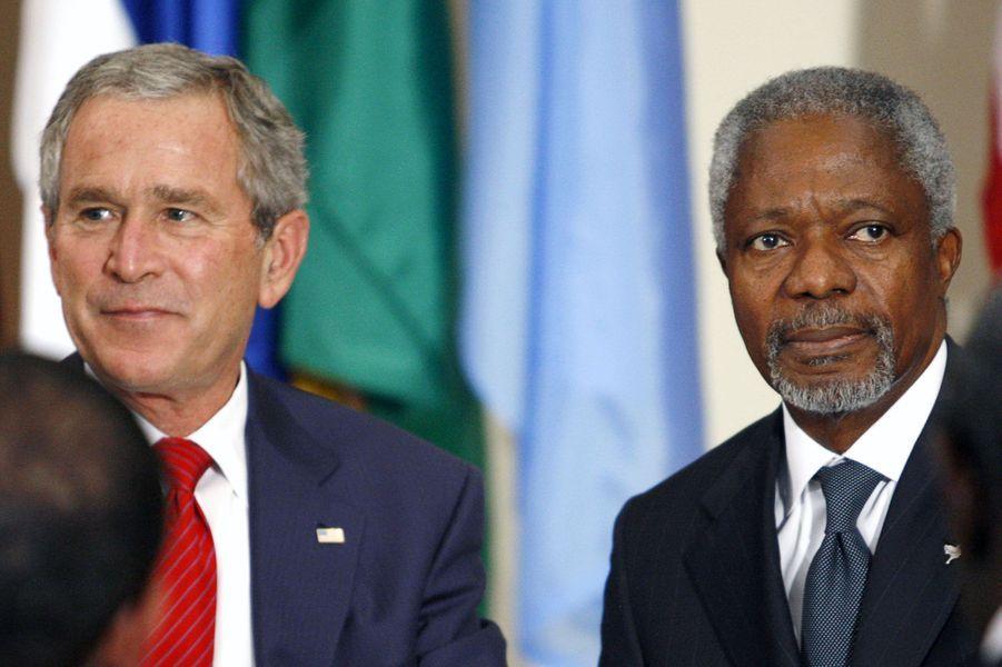 AvecGeorge W. Bush en 2006