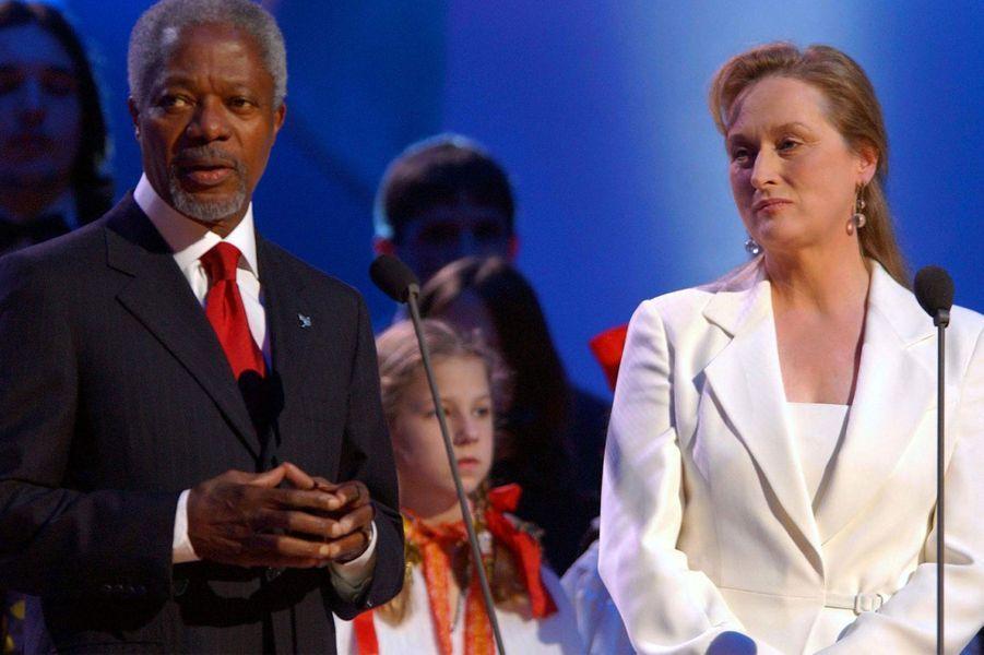 AvecMeryl Streep à Oslo en 2001