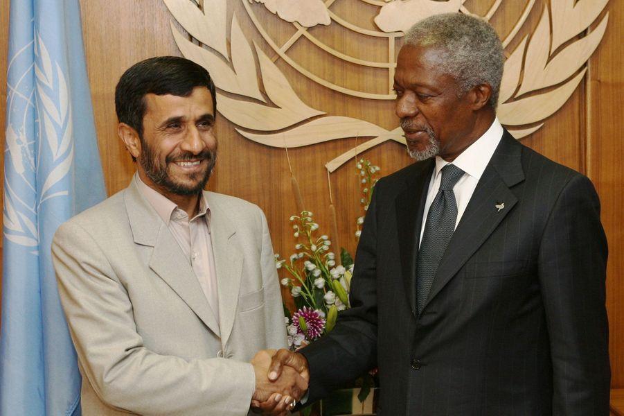 AvecMahmoud Ahmadinejad en 2006
