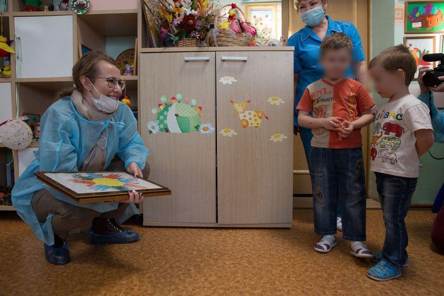 Visite d'un établissement pour enfants atteints de maladies graves à Samara.