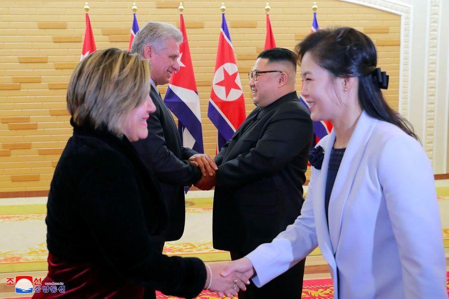 Le président cubain Miguel Diaz Canel a été reçu par Kim Jong-un à Pyongyang.