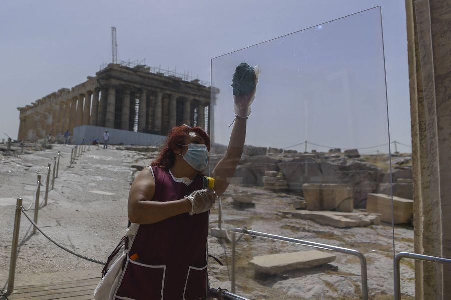 L'Acropole d'Athènes, lundi 18 mai 2020.