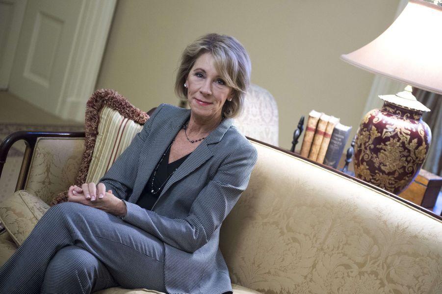 Betsy DeVos, future secrétaire à l'Education.