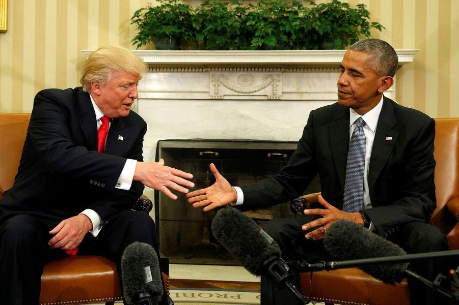 20 janvier 2017 : Barack Obama quitte la Maison Blanche et Donald Trump est investi. Il sera le 45ème président des Etats-Unis.