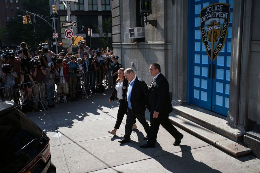 Arrivée de Harvey Weinstein devant la Cour fédéral de Manhattan à New York le 11 octobre 2018.