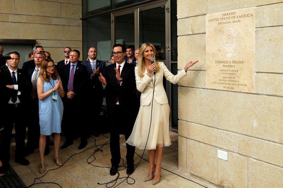 Ivanka Trump et Steven Mnuchin présents à Jérusalem pour l'inauguration de la nouvelle ambassade américaine en Israël, le 14 mai 2018.