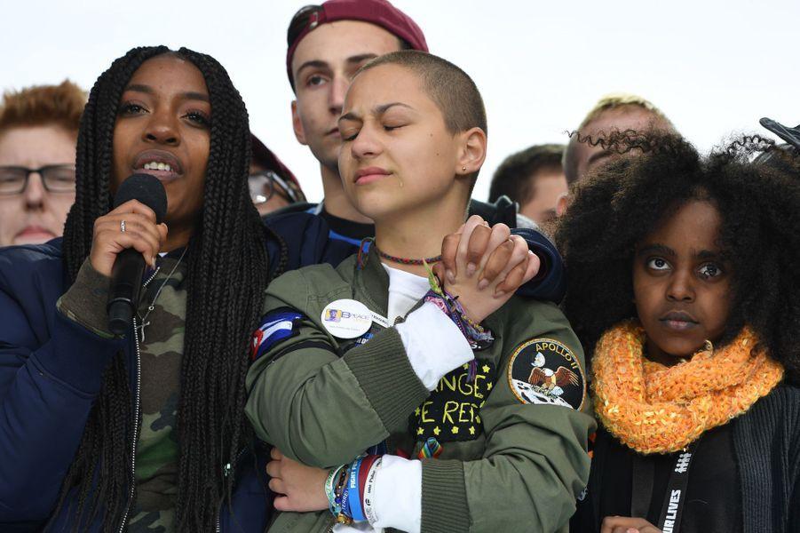 Emma Gonzalez, icône de la lutte contre les armes à feu, participe à la March for Our Lives à Washington, le 24 mars 2018.