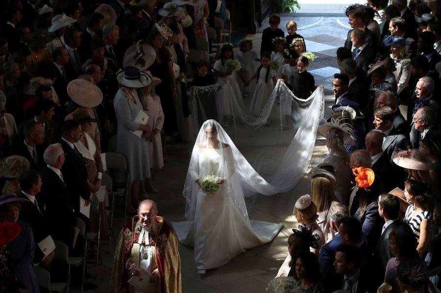 Windsor (Berkshire), samedi 19 mai 2018 : mariage du prince Harry d'Angleterre, 33 ans, avec sa fiancée Meghan MARKLE, 36 ans, nouvelle duchesse de Sussex.