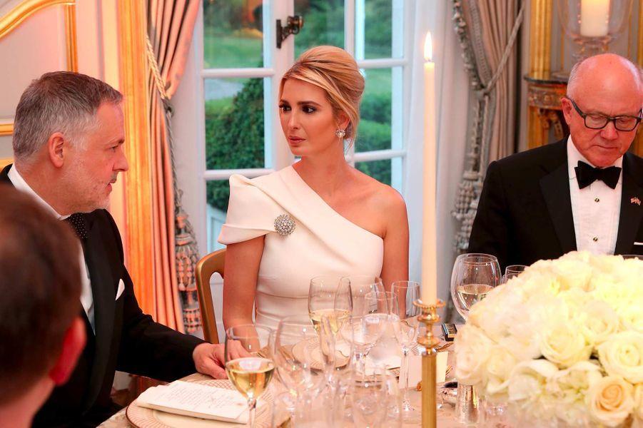 Ivanka Trump lors d'un dîner à Winfield House, le 4 juin 2019.