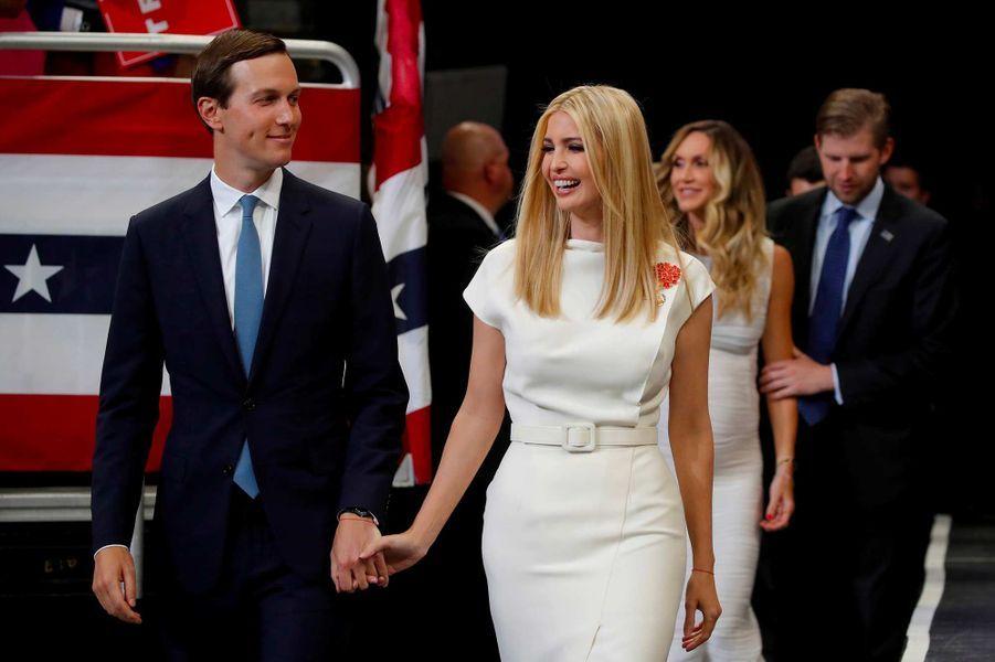 Jared Kushner et Ivanka Trump au meeting de lancement de la campagne de Donald Trump, le 18 juin 2019.