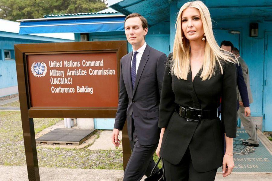 Jared Kushner et Ivanka Trump dans la zone démilitarisée entre les deux Corées, le 30 juin 2019.