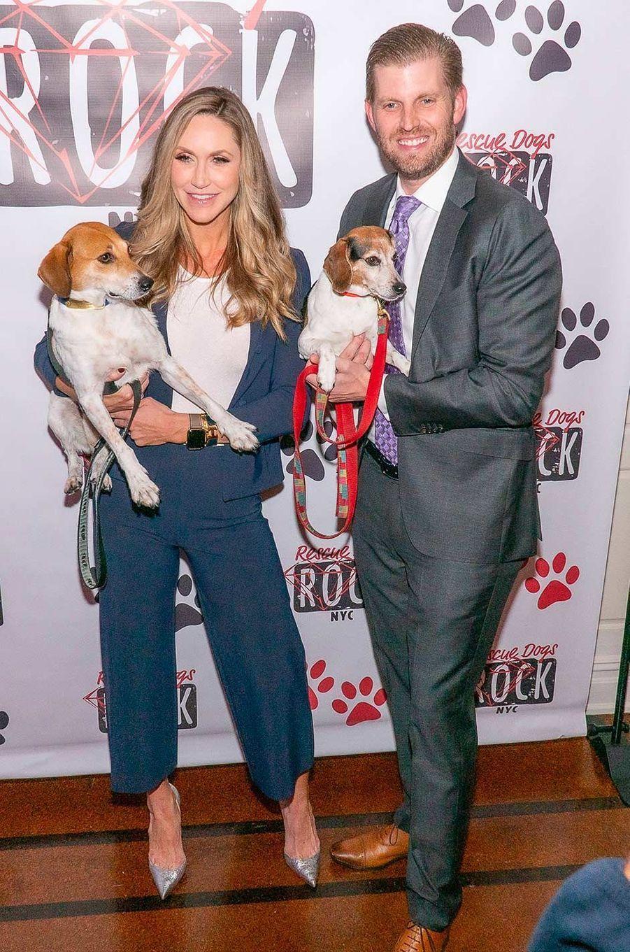 Lara et Eric Trump au gala de l'association Rescue Dogs Rock à New York, le 22 octobre 2019.