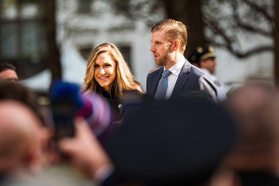 Lara et Eric Trump lors de la commémoration en faveur des vétérans à New York, le 11 novembre 2019.