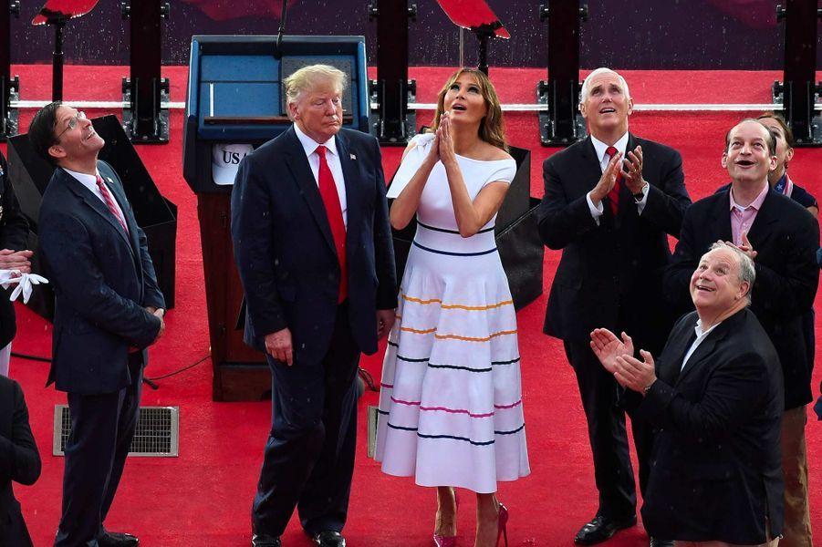 Donald et Melania Trump lors des célébrations de la fête nationale à Washington, le 4 juillet 2019.