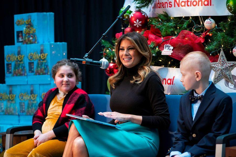 Melania Trump à l'hôpital pédiatrique national de Washington, le 6 décembre 2019.