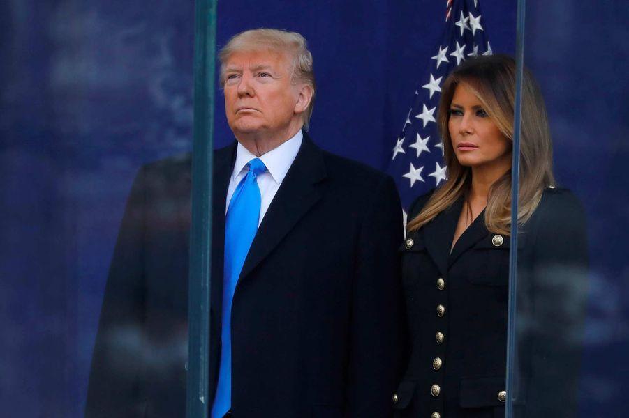 Donald et Melania Trump lors de la parade en hommage aux vétérans à New York, le 11 novembre 2019.