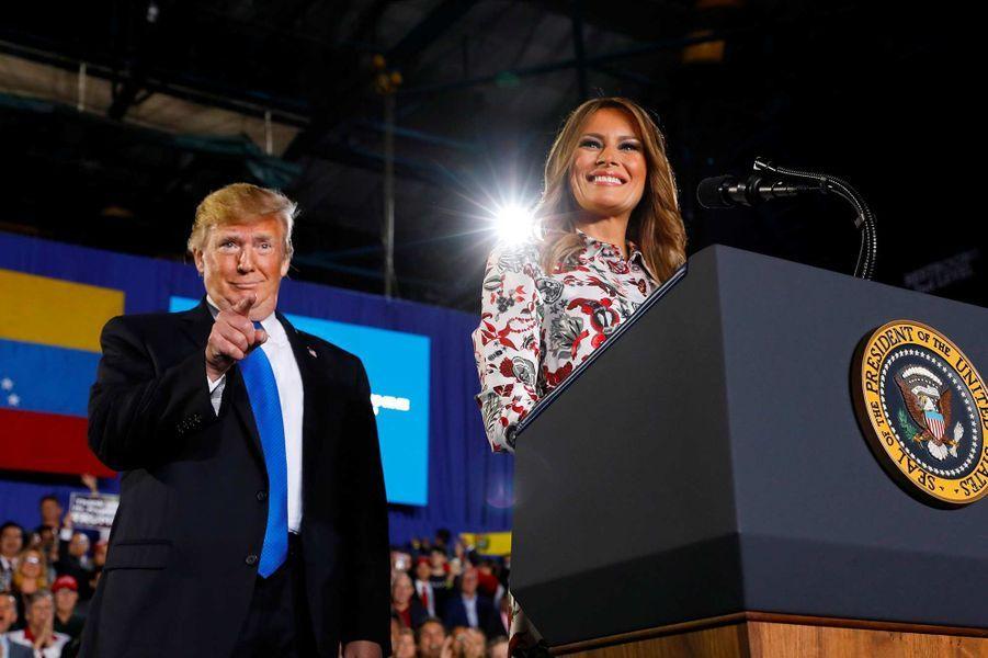 Melania Trump présente un discours avant celui de son mari à l'université de Floride, le 18 février 2019.