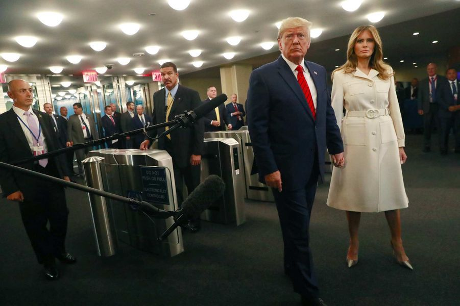 Donald et Melania Trump arrivent à l'Assemblée générale des Nations unies à New York, le 24 septembre 2019.