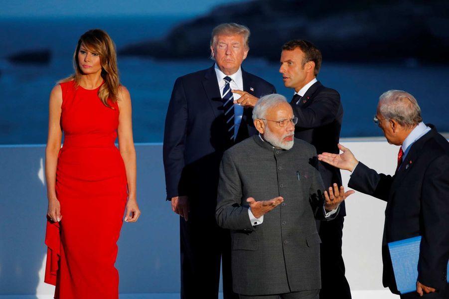 Melania et Donald Trump à Biarritz, le 25 août 2019.