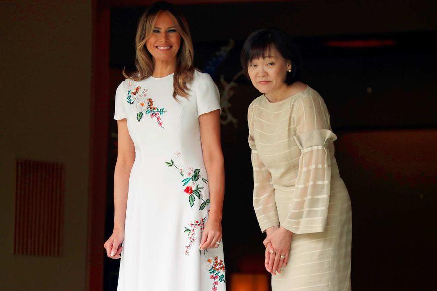 Melania Trump et Akie Abe à Tokyo, au Japon, le 27 mai 2019.