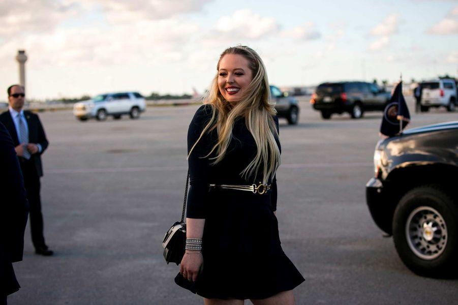 Tiffany Trump à l'aéroport de Palm Beach, le 18 avril 2019.