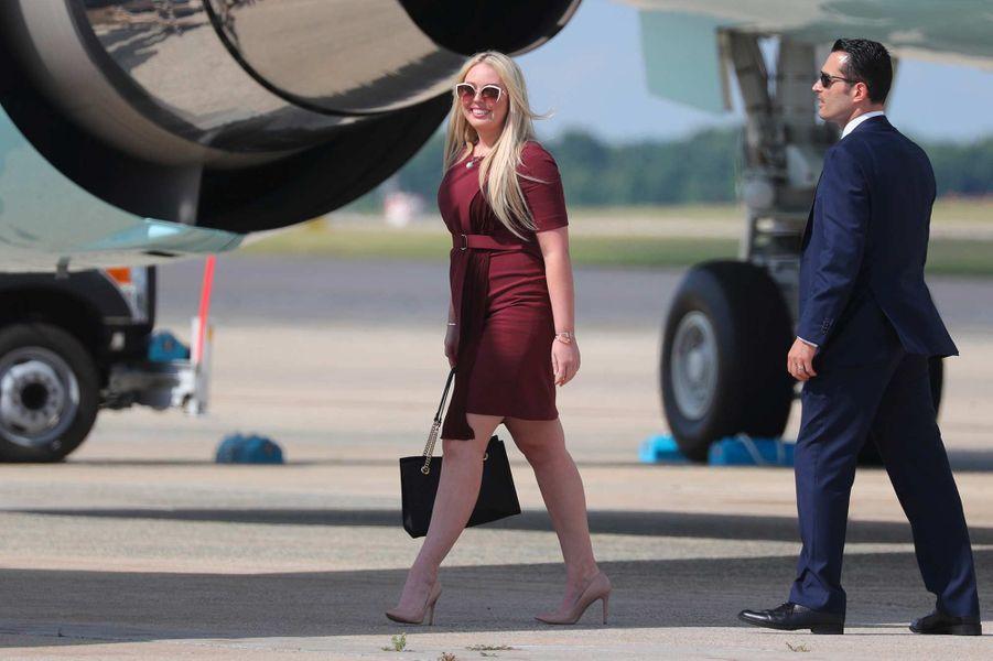 Tiffany Trump à la descente d'Air Force One, le 19 juin 2019.