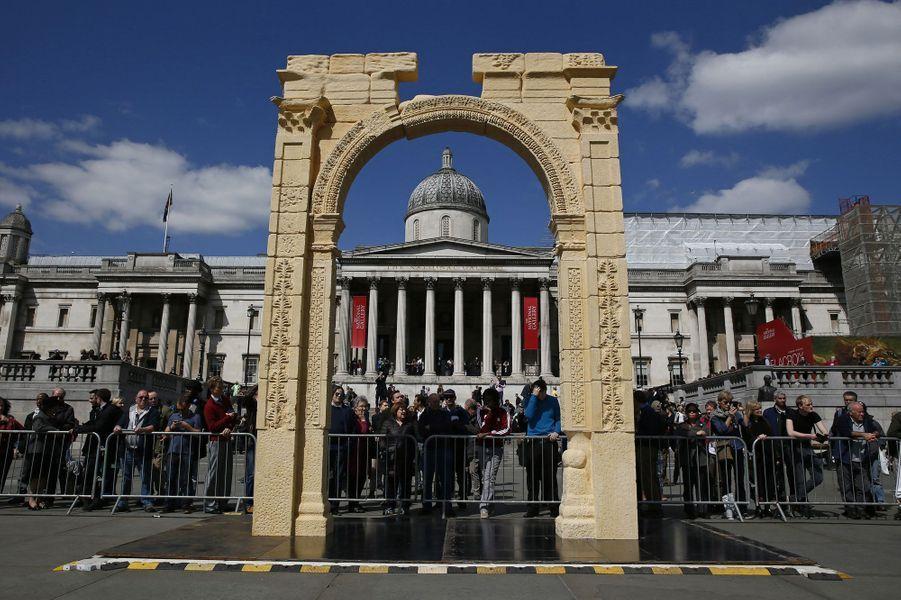 L'Arc de Triomphe de Palmyre recréé à Trafalgar Square