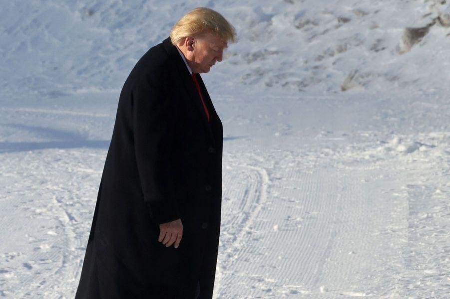 Le président des Etats-Unis Donald Trump est arrivé à Davos (Suisse), mardi,pour participer au Forum économique mondial.