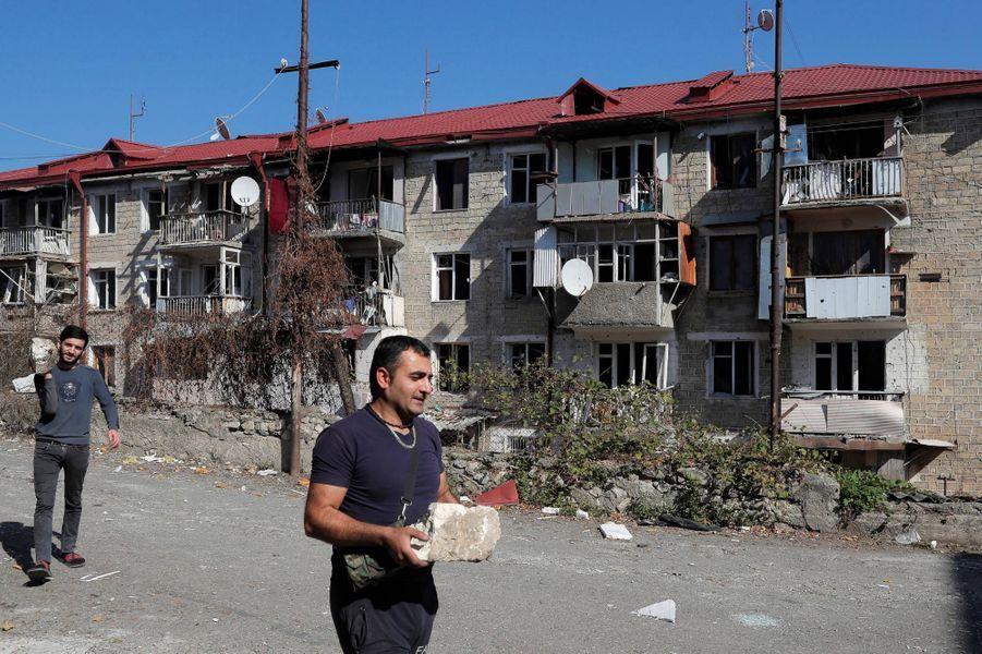 AStepanakert, dans le Nagorny Karabakh, le 13 octobre 2020.