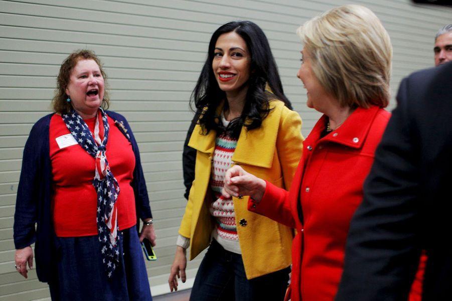 Huma Abedin, directrice adjointe de la campagne d'Hillary Clinton.