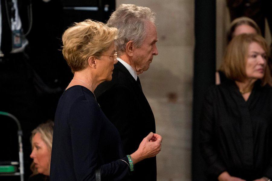 Annette Bening et Warren Beattyau Capitole, à Washington, le 31 août 2018.