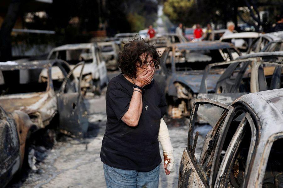 Les incendies qui ont sévi sur le pays ont fait au moins 74 morts, dont la plupart retrouvés calcinés dans la cité balnéaire de Mati.