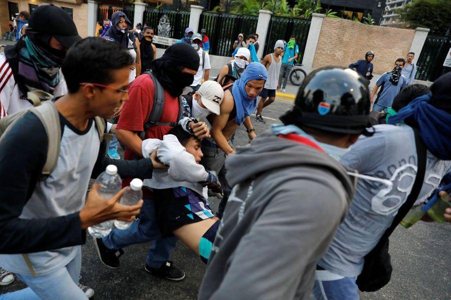 Manifestation anti-Maduro à Caracas, au Venezuela, le 10 avril 2017.
