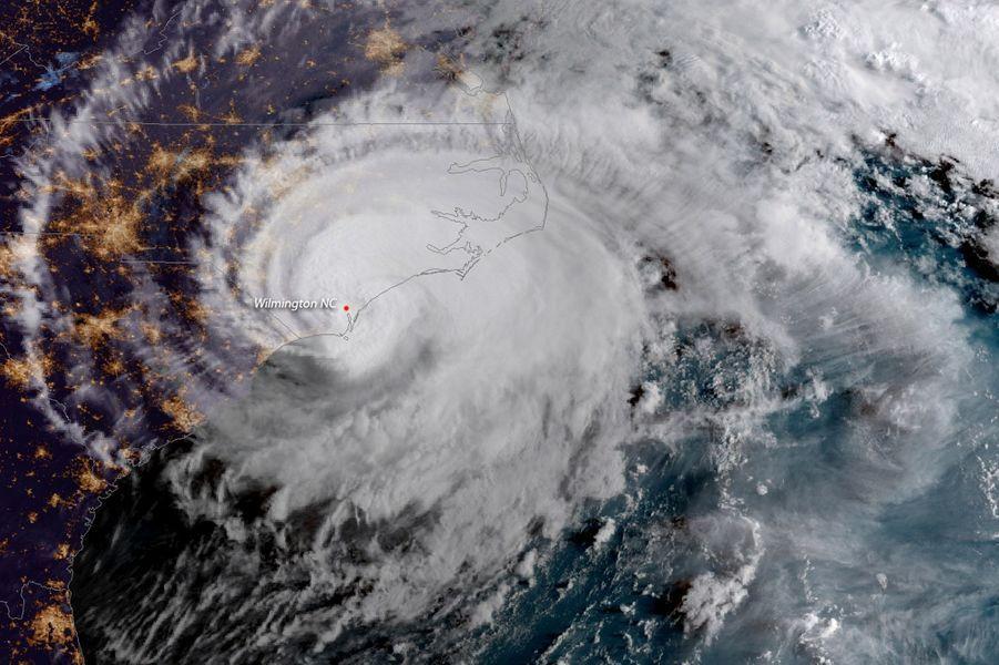 L'oeil de l'ouragan sur une image satellite.