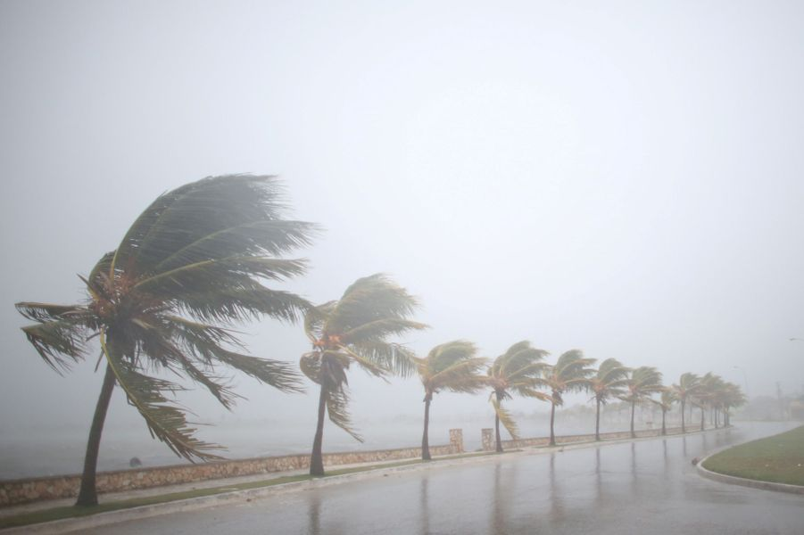 L'ouragan Irma, avec ses rafales de plus de 200 km/h, a provoqué des inondations à Cuba.