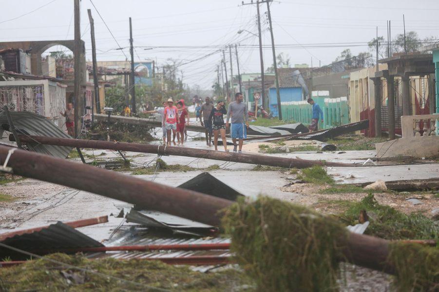 ACaibarien, également touchée par Irma.