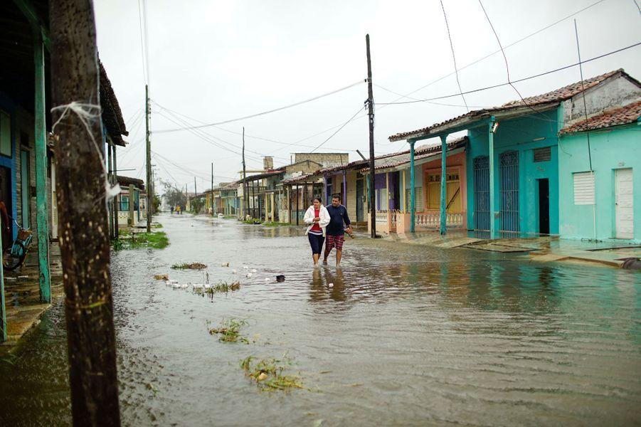 A Caibarien, également touchée par Irma.