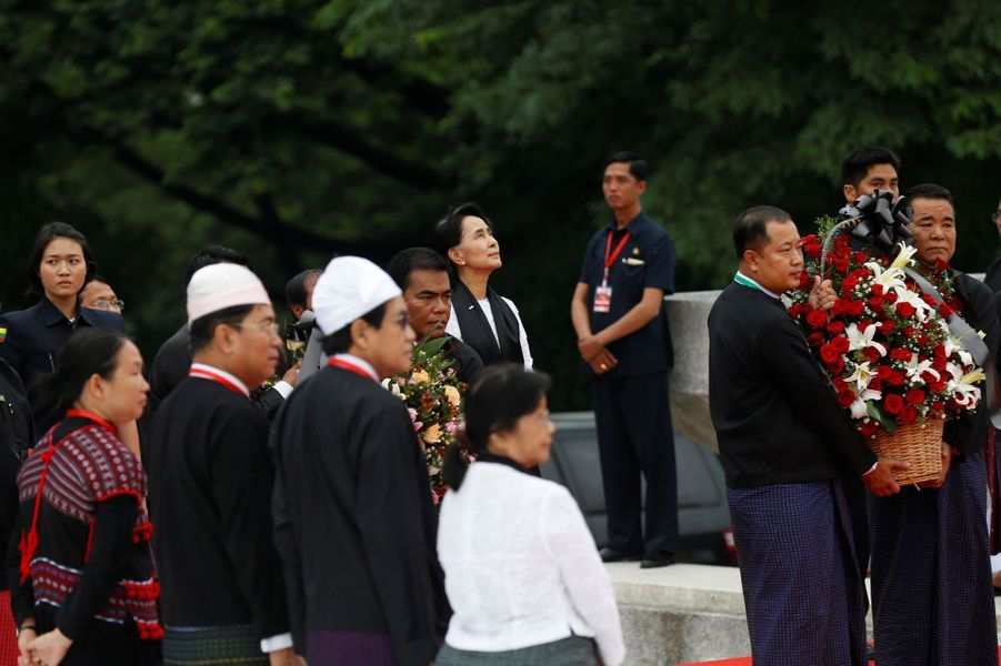 Aung San Suu Kyi à Rangoun, le 19 juillet 2017.